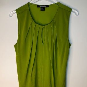 Ellen Tracy Silk Sleeveless Kiwi Top